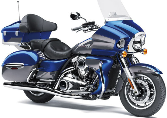 King of Kawasaki Cruisers. MSRP US$ 17,499. Fuel-injected 52-degree 1,700cc V-twin delivers high torque levels with a powerful and distinct V-twin feel. Electronic cruise control system can be activated in third gear or at any speed between 30mph and 85mph.